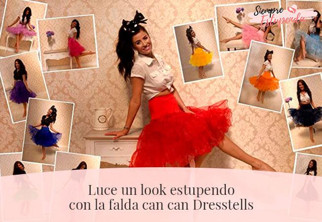 Luce un look estupendo con la falda can can Dresstells