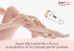 Braun Silk Expert Pro 5 PL5137, la depiladora de luz pulsada que he probado